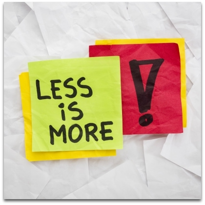 4 Less-Is-More Musts for Schools