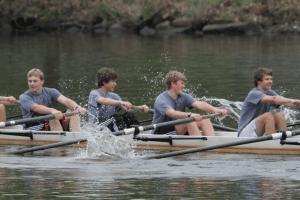 Boys rowing crew