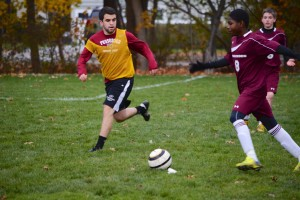 Faculty-student soccer game