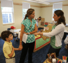 Parents visiting Pre-K program