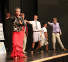 Boys dancing flamenco