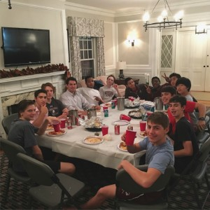 WR - Boys eating in HH living room